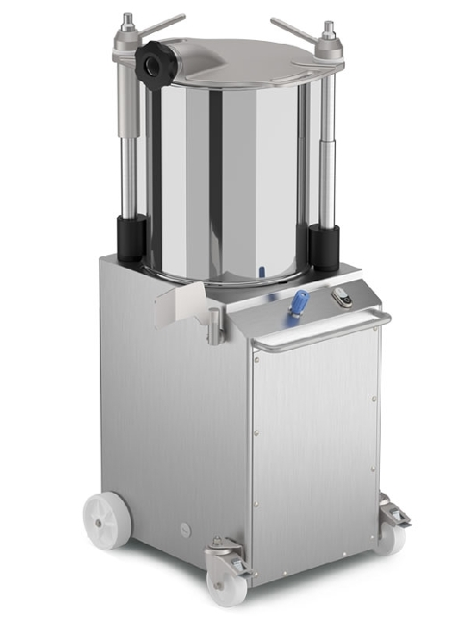 Vertical hydraulic sausage filling machines in stainless steel